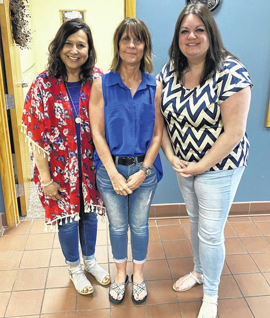 Last Friday, Fayette County Public Health staff wore blue as part of a nationwide effort to spread awareness of issues affecting men's health and to promote and encourage well checks for men. Pictured (left-to-right): Heidi Phipps, Donna Butler, and Janessa Williamson, RN