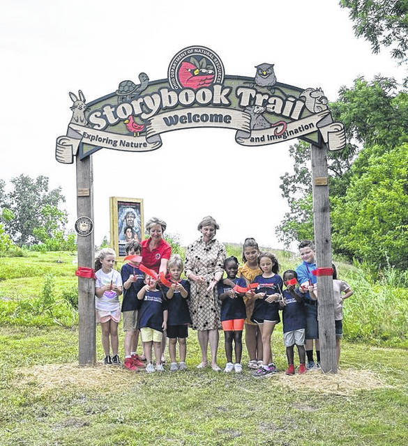 First Lady Fran DeWine and Ohio Department of Natural Resources Director Mary Mertz celebrated the launch of Ohio's newest Storybook Trail, now open at the Shawnee State Park Ohio River property in Scioto County.