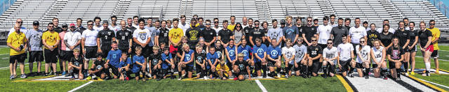 Over 100 individuals came out to take part in the Sean Sweeney tribute at Miami Trace High School Sunday, June 27, 2021.