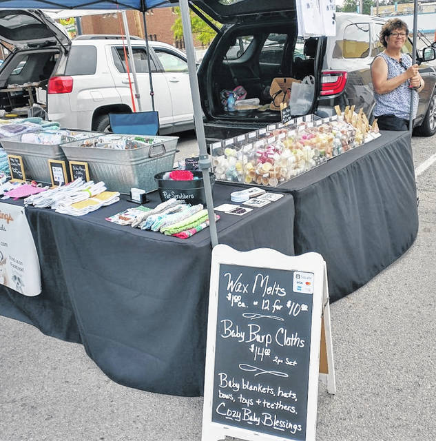 Cozy Baby Blessings at the Fayette County Farmers Market.