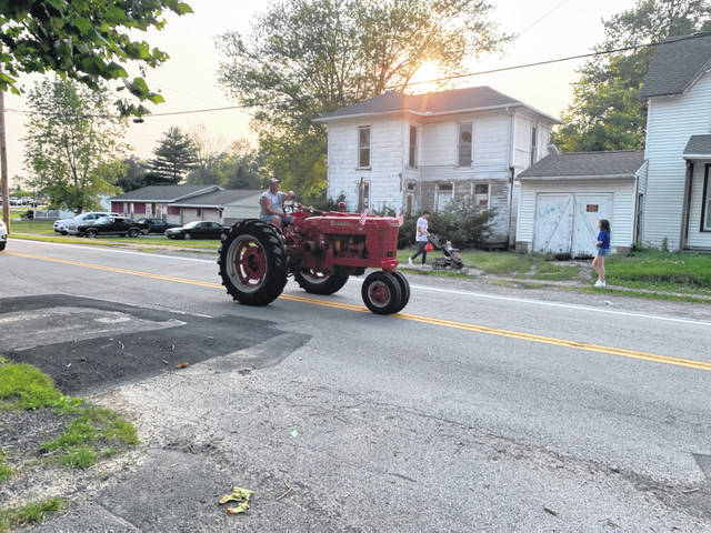 An antique tractor was part of the Jeffersonville Fourth of July parade on Sunday.