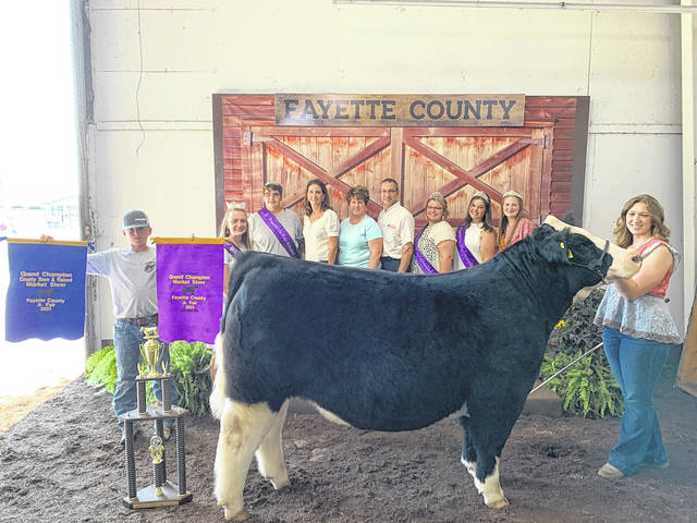 Victoria Waits' grand champion market steer sold for $7,000 at Saturday's Fayette County Fair Beef Steer Sale. The buyers for the market steer were: Fayette Veterinary Hospital and Fayette County's Finest Show Cattle. See inside for more photos from Saturday's big sale.