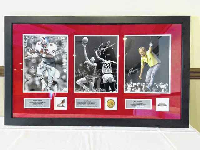 Pictured is the framed collection being raffled off by the Washington Court House Rotary.