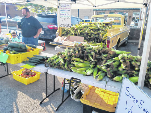 Kevin Gerhardt at a recent Fayette County Farmers Market.