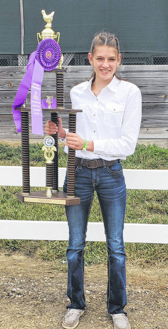 During the Market Chicken show on Wednesday morning, Addyson Butts won Grand Champion.