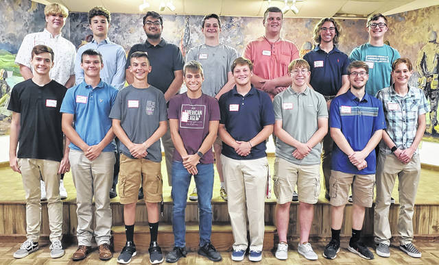 American Legion Post 25 held a dinner on Wednesday evening for youth chosen for Buckeye Boys State. Each boy in attendance gave a statement or speech about their experience.