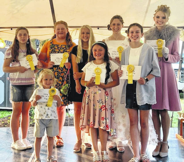 The following are 4-H Clothing State Fair participants from Fayette County. The Fayette County Style Show was held last week. Pictured: (back row, left-to-right) Bailey Miller, Lilly Hamilton, K'lynn Cornell, Victoria Waits, Hidy Kirkpatrick; (front row, left-to-right): Noah Cornell, Grace Hook and Karleigh Cooper.