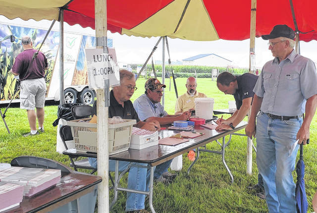 At the Fayette County Research and Demonstration Farm on Tuesday, the Southwest Ohio Corn Growers Association, in conjunction with the Fayette County Agronomy Committee and the Fayette County Extension Office, held their annual field day and agronomy plot demonstrations.