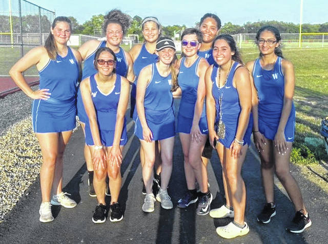 The Washington Lady Lion tennis team earned their first victory of the season Monday, Aug. 23, 2021 at Circleville High School. (front, l-r); Jillian Frederick, Addy Newsome, Abby Rose, Sofia Siscoe; (back, l-r); Tristan Hammock, Abby Wilson, Joshalynn Worth, Deseray Williams and Siddhi Patel.