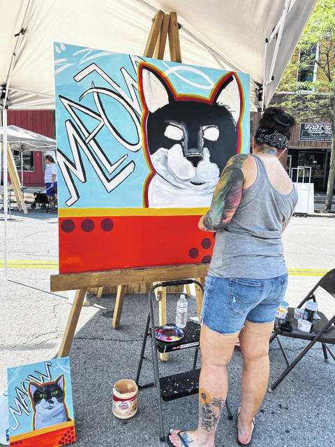 One of this year's Art on the Square participants was Amanda Foy.