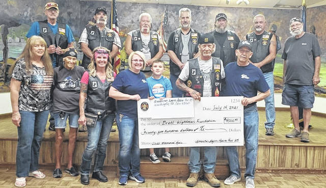 The American Legion Riders Post 25 was able to donate $4,500 to the Brett Wightman Foundation.