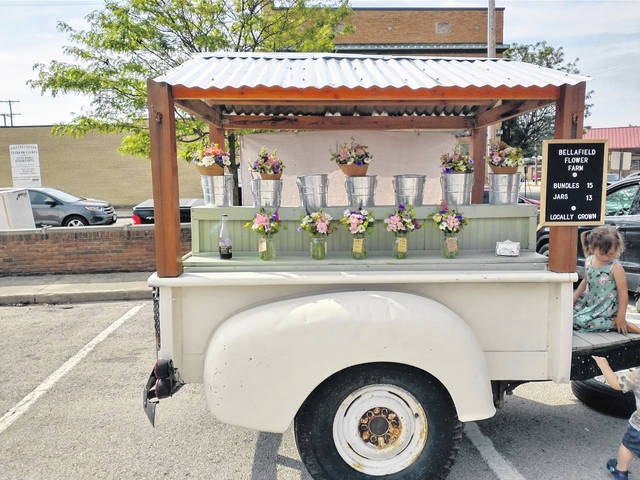 """Brooke Waddell is one of the Fayette County Farmers Market cut flower vendors, and the face of """"Bellafield Flower Farm."""""""