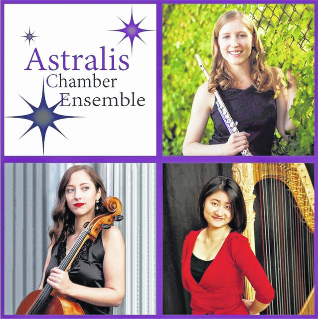 The beautiful, accomplished musicians in the Astralis Chamber Ensemble hold seven advanced degrees in music from various conservatories and universities. They have performed all over the world, and will present a concert on Oct. 12 in Washington C.H.