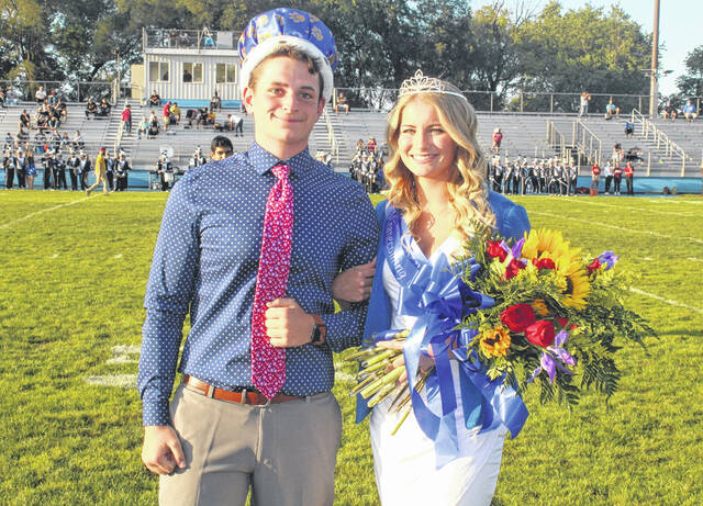 Mac Miller and Kassidy Olsson were named the King and Queen of the Washington High School Homecoming Friday, Sept. 10, 2021 at Gardner Park just before the game against Westerville North.