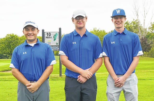 Three Washington Blue Lion golfers earned First Team, All-FAC honors following the conference's tournament Tuesday, Sept. 21, 2021. (l-r); Garrett Wahl, Garrett DeWees and John Wall.