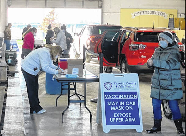 The first-ever drive-thru flu vaccination clinic Fayette County Public Health held was last fall. The setup for the drive-thru clinic being held Monday will basically be the same.