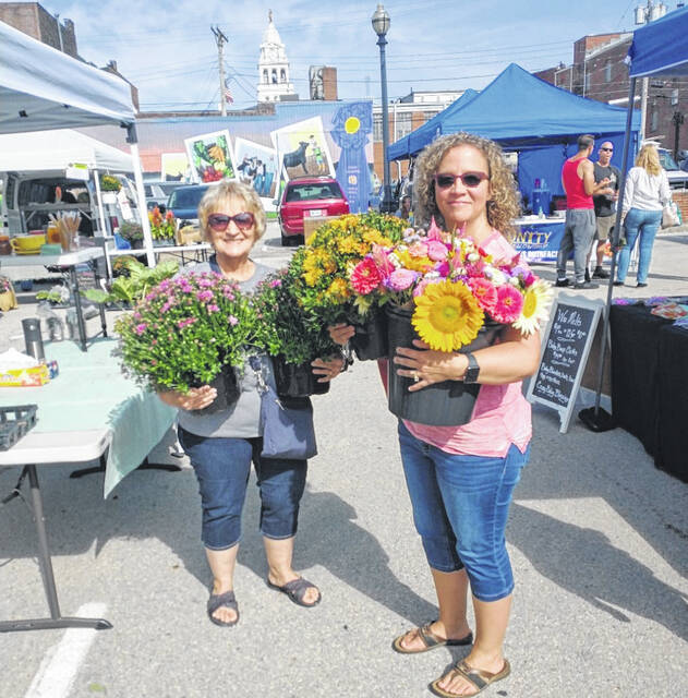There have been various items for sale at this season's Farmers Market including these beautiful blooms.