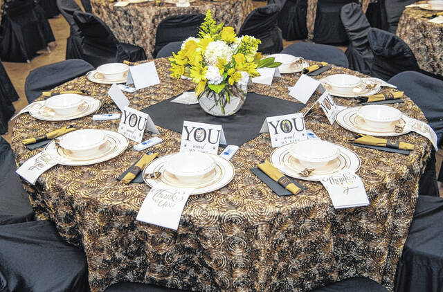 Guests were able to buy individual tickets or reserve an entire table.