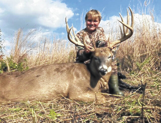 Kaden Bryant, 14, of Fayette County, recently shot a 13-point buck. Hard work and determination certainly paid off for him this season. He is the son of Heath and Abbie Bryant.