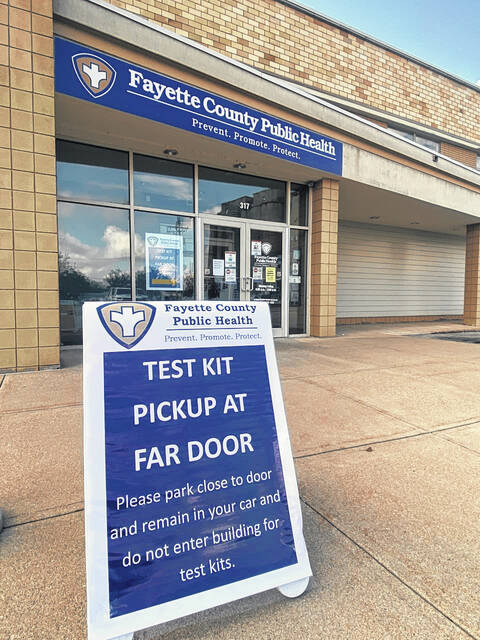 Fayette County Public Health is offering at-home COVID test kits while supplies last.