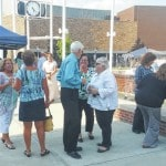 Morris makes final appearance at naming of plaza
