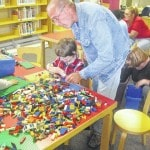 Kids create with LEGO at the Portsmouth Public Library