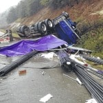 I-64 at Carter Co. remains closed after truck overturns