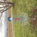 Frisbee golf course installed in county park