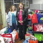 Cheer totes donated to Vet Clinic