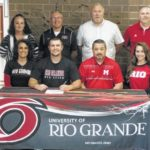 Eli Daniels signs with Rio Grande University to play baseball