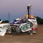 Mike Meyers takes the checkered flag at Portsmouth Raceway Park