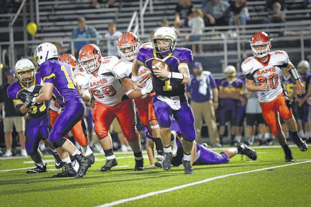 Valley's Andrew Shope runs the ball against Raceland back on Sept. 16.