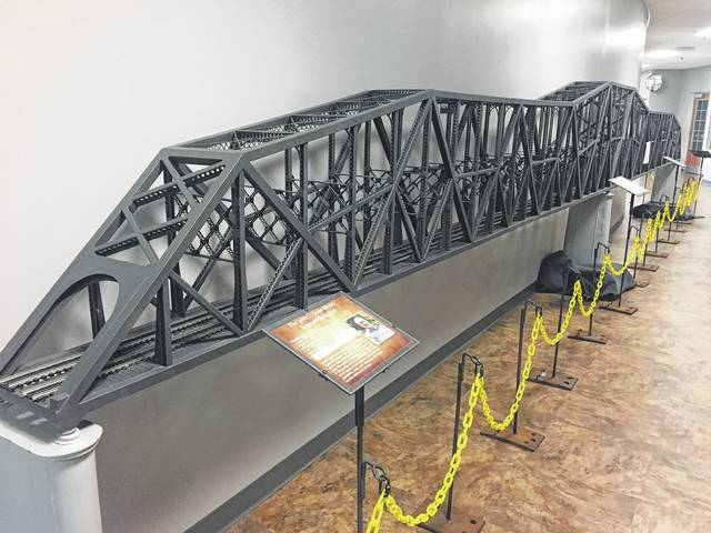 Model of the Chesapeake and Ohio Railroad Bridge built by Harold Virgil Woods Jr.