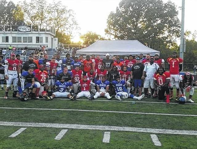 The BCFL all-star team poses on Saturday before their game against the BGFL. The BCFL team won, 26-8.