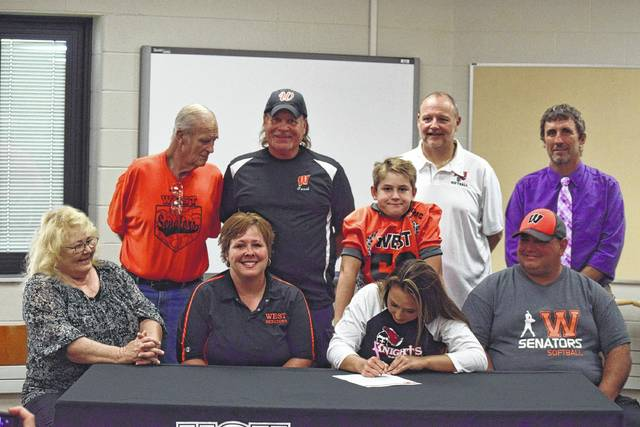 West senior and multi-sport athlete Taylor Coleman signed with Kentucky Christian to play softball for Dave Miller's program on Friday for the Spring of 2019 on forward. Coleman accumulated a 16-10 record with a 4.12 ERA in 2017.