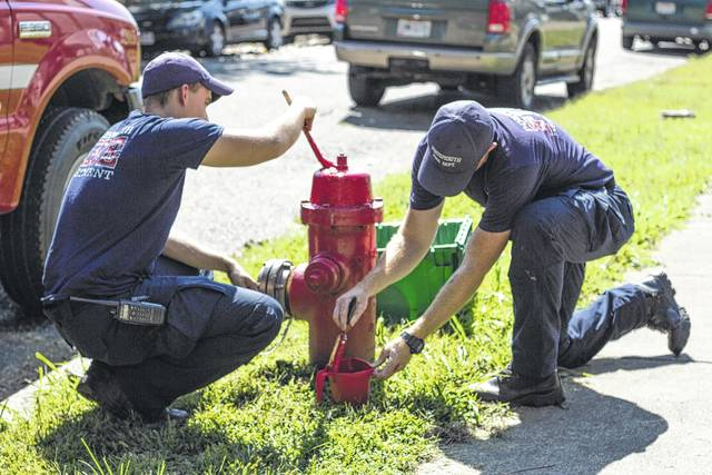 Different crews of firefighters split up the city and were sent all across Portsmouth to service various fire hydrants.