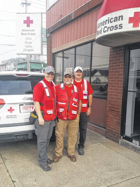 Smoke alarm team left to right Ed Helphinstine, Tim Skaggs, and Bryan Smith.