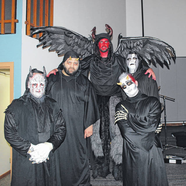 Some of actors in costume, from a tour given by the church in 2015.