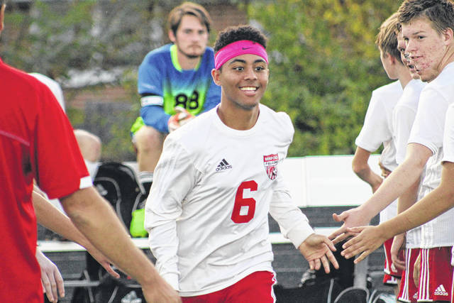 Minford senior Elijah Craft was all smiles as he was introduced in front of the home crowd.
