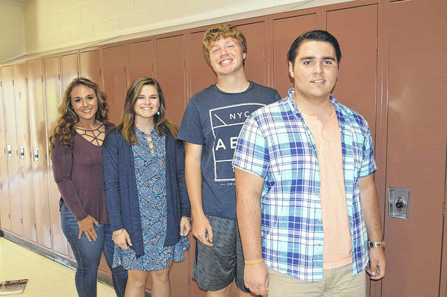 PWHS Students of the Month: (from left) senior Taylor Coleman, junior Molly Taylor, sophomore Nick Gray, and freshman Gary Jenkins