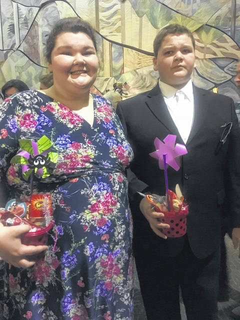 Brother and Sister, Abbi Sessor as woman whose purse is stolen and Andrew Sessor as Mr. Trotter
