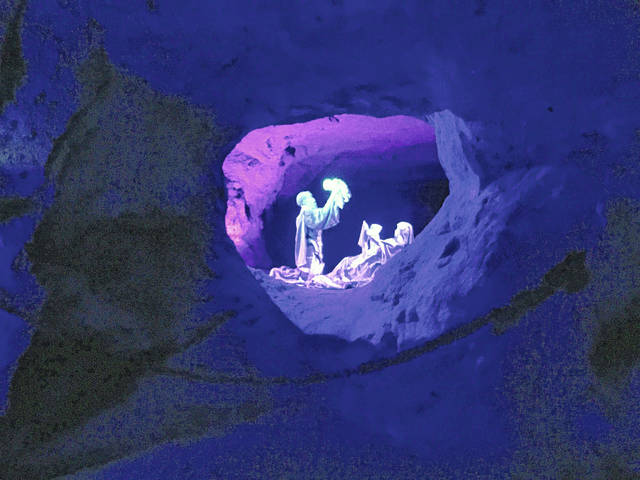One of the magnificant nativity scenes at The Christmas Cave.