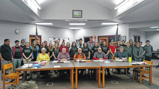 The band was honored at the Minford School Board meeting on Thursday night.