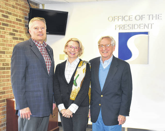 A new scholarship was created for veterans through the SSU Development Foundation thanks to a generous donation by Dr. George and Sandra White. Pictured left to right: SSU President Rick Kurtz, Sandra White and Dr. George White.