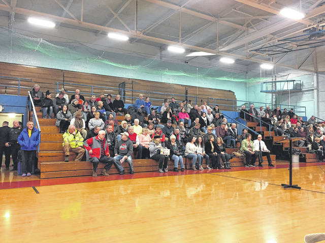 The bleachers were filled with Portsmouth citizens, while hundreds more tuned in to live feeds.
