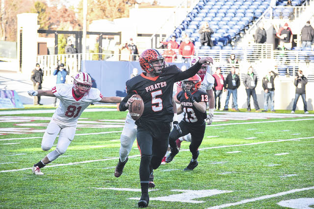 Wheelersburg quarterback Trent Salyers epitomized what true mental toughness was all about in the OHSAA Division V State Championship Game.