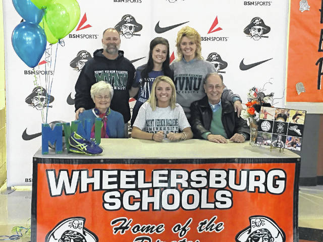 Wheelersburg's Ellie Ruby signed with Mount Vernon Nazarene to participate in the volleyball and track programs at the school for the 2018-19 season on forward.