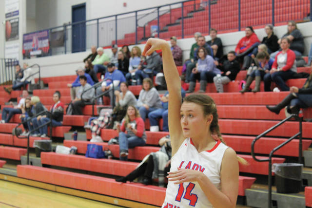 Northwest's Sydnie Jenkins shows off the follow through on a jump shot. Jenkins had eight points in the game.