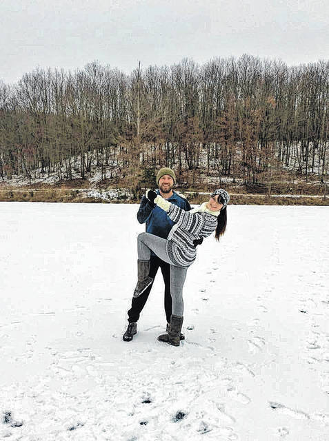 Star Dancer Reece Brown and his partner Autumn Dowdy don't let a little snow and cold weather interrupt their practicing for Dancing With our Stars 2018