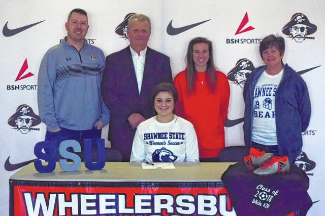 Wheelersburg's Sydney White signed with Shawnee State University on Friday evening. White was a consistent and steady force for the Lady Pirates in all areas throughout her varsity career.